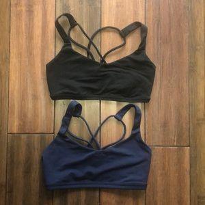 NAVY ONLY Lululemon free to be sports bra